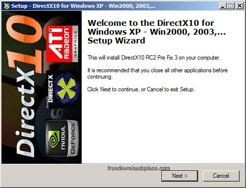 DirectX 10 Download Free - A library useful for games and multimedia
