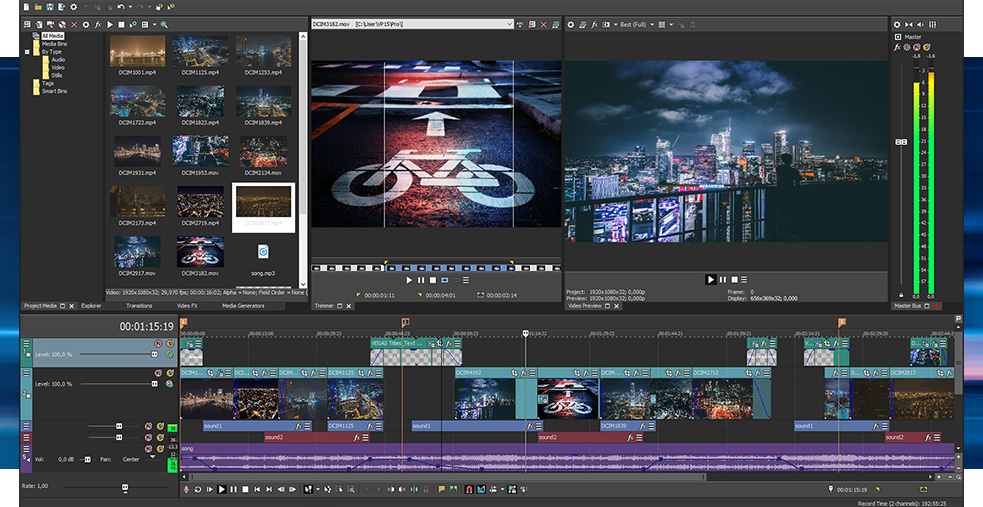 Sony Vegas Pro 11.700 Video Editor Overview