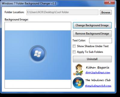 Windows 7 Folder Background Changer Download Free For