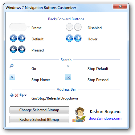 Windows 7 Navigation Buttons Customizer Download Free for