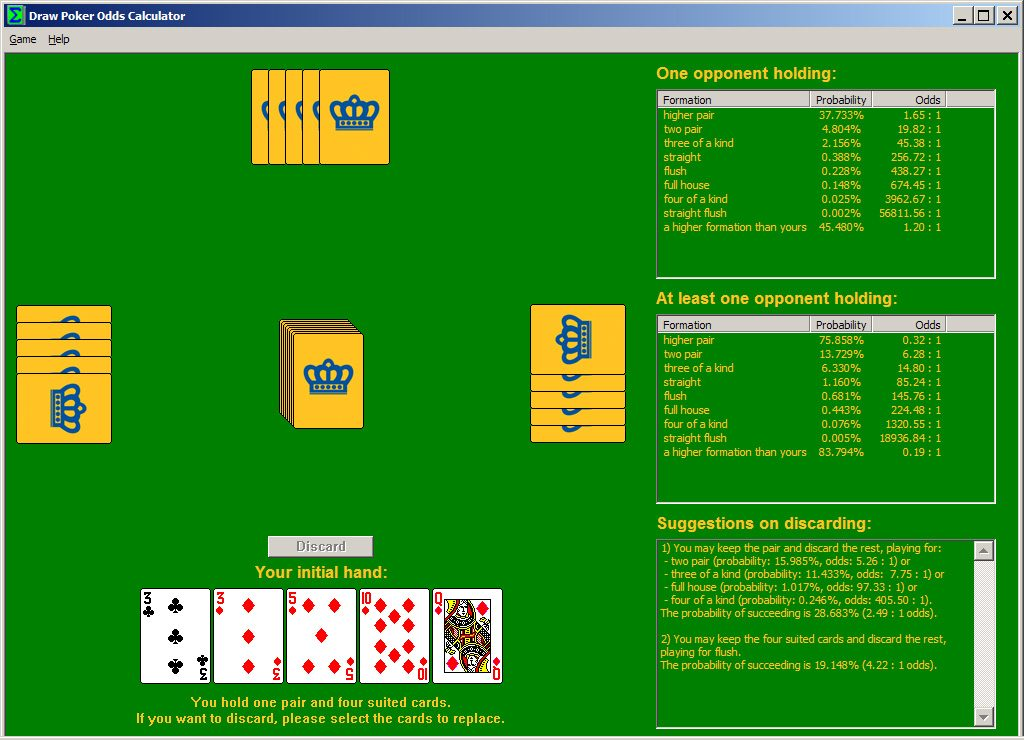Poker Odd Calculator