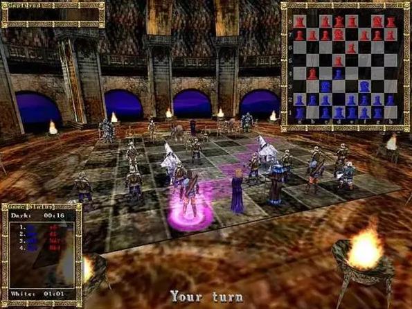 Games: war chess game.