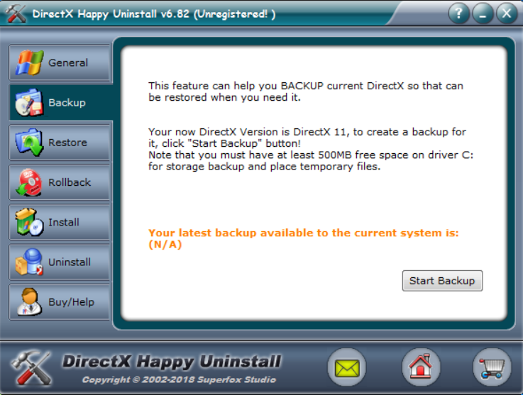 DirectX Happy Uninstall Free Download for Windows 10, 7, 8