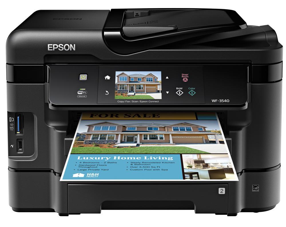 Epson WorkForce WF-3540 Printer Driver Download Free for