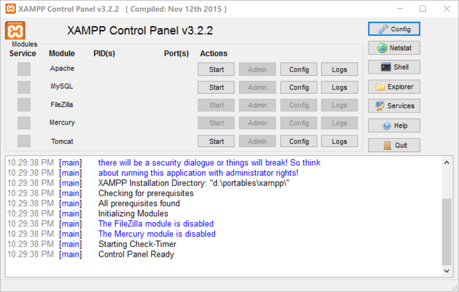 Portable XAMPP Download Free for Windows 10, 7, 8 (64 bit