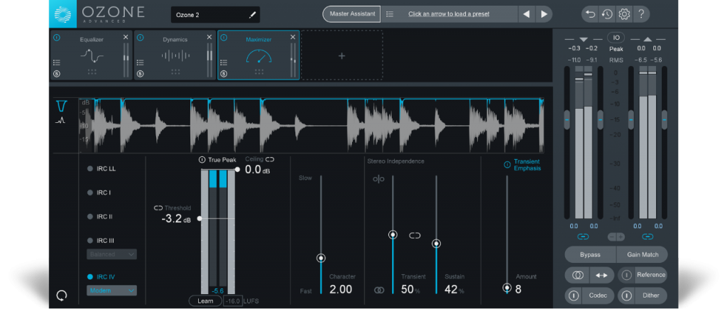 iZotope Ozone Standard Free Download for Windows 10, 7, 8