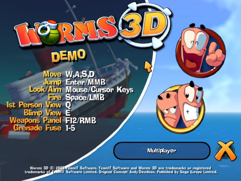 Worms 3D English Demo Free Download for Windows 10, 7, 8/8 1