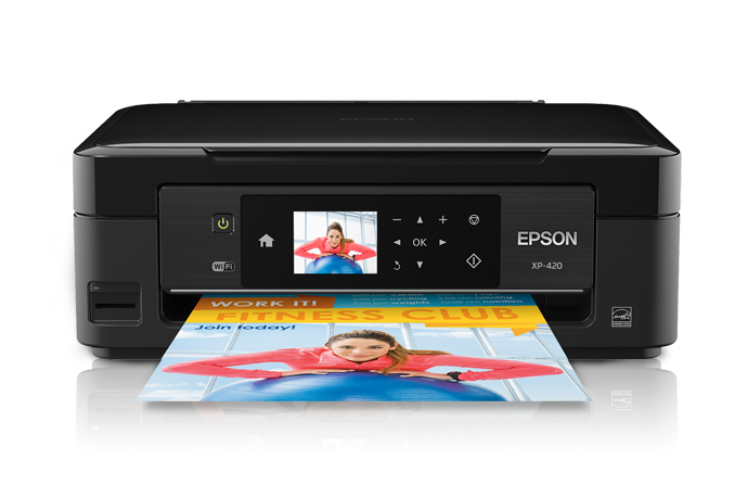 Epson expression home xp-420: wireless setup using the printer's.