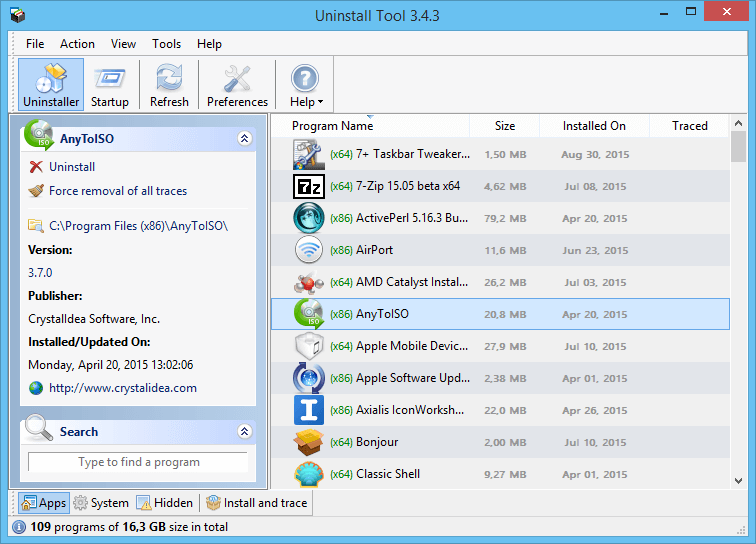 free uninstaller software for windows 7 64 bit