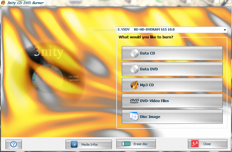 3nity CD/DVD Burner Download Free for Windows 10, 7, 8/8 1 (64 bit