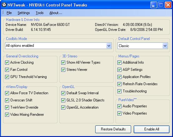 NVTweak (Formerly Coolbits) Download Free for Windows 10, 7