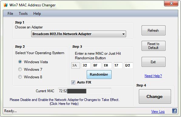 download mac address changer for windows 7 64 bit