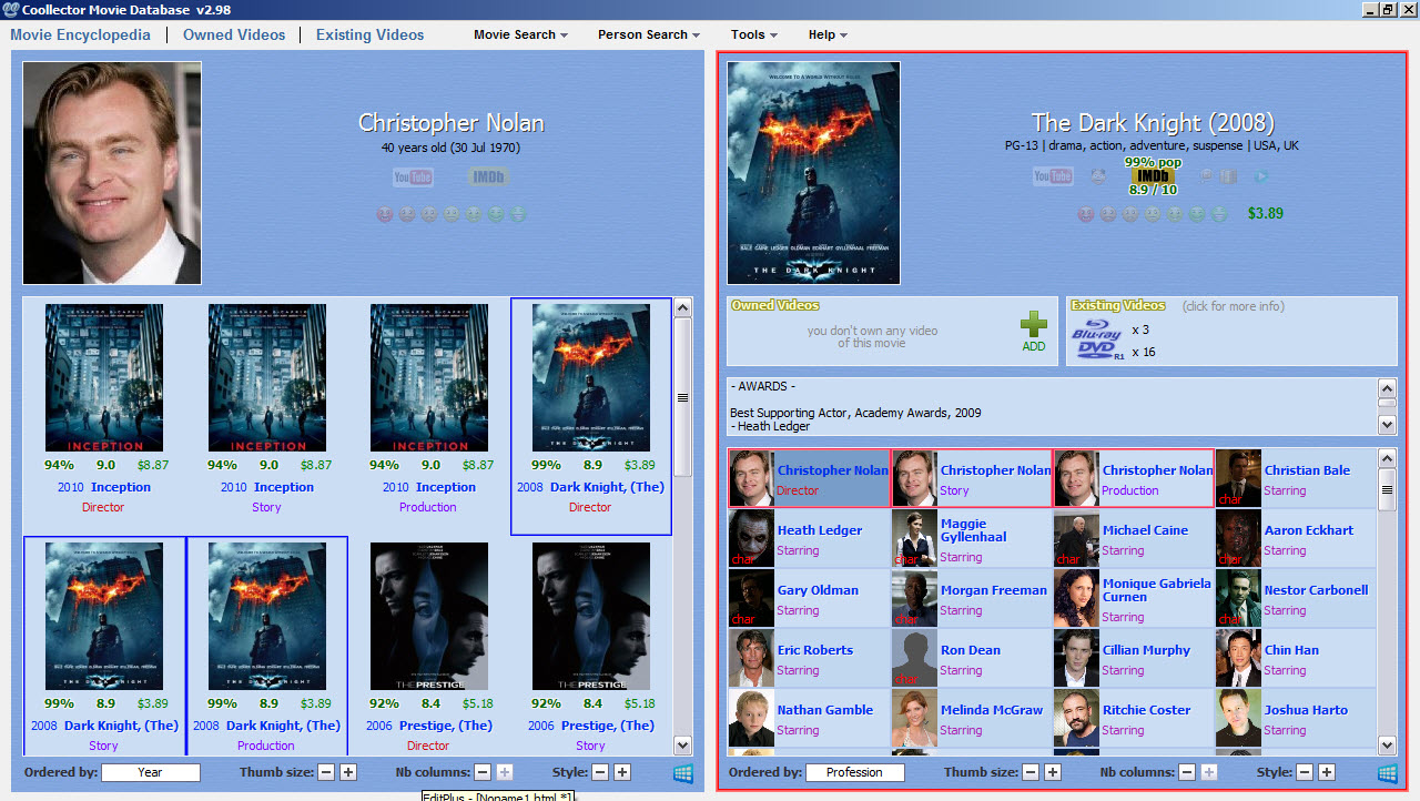 Coollector Movie Database Download - Can keep a database with movies and titles