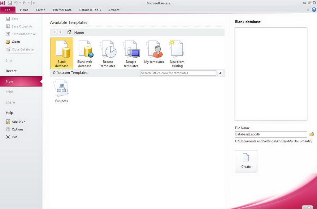 ms access portable free download