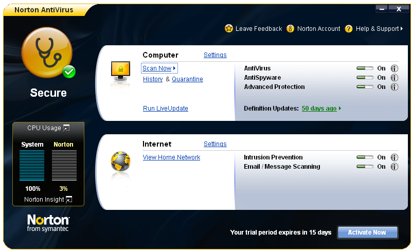 Norton utilizes several different techniques to keep malware off of a computer. A firewall is one of the most straightforward ways to minimize threats. Norton uses a two-way firewall.